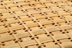 被编织的篮子纹理 库存照片
