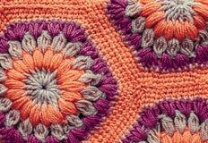 被编织的纺织品地毯样式宏指令 免版税库存图片