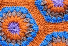 被编织的纺织品地毯样式宏指令 免版税图库摄影
