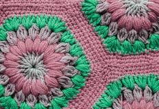 被编织的纺织品地毯样式 免版税库存照片