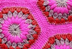 被编织的纺织品地毯样式 图库摄影