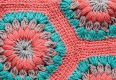 被编织的纺织品地毯样式 免版税库存图片