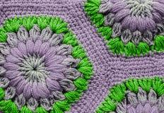 被编织的纺织品地毯样式 库存照片