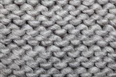 被编织的羊毛模式 库存图片