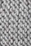 被编织的羊毛模式 库存照片