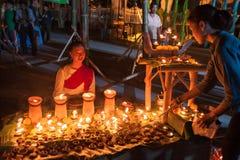 被编织的美丽的泰国女服传统棉花 库存照片