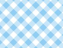 被编织的蓝色方格花布向量 免版税库存图片