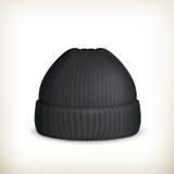 被编织的黑色盖帽 库存图片