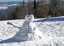 被编译的儿童游戏雪人 免版税库存图片