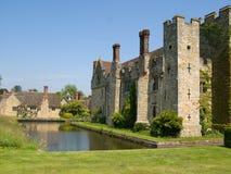 被编译的城堡英国有历史的老石头 免版税库存照片