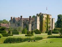被编译的城堡英国有历史的老石头 库存图片