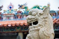 1189被编译的瓷中国朝代e-i金狮子石头是几年 免版税库存图片