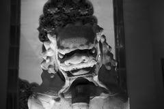 1189被编译的瓷中国朝代e-i金狮子石头是几年 免版税库存照片