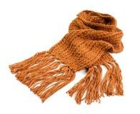 被编织的冬天围巾 库存照片
