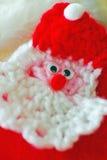 被编织的圣诞老人 免版税库存图片