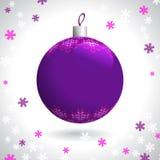 被编织的圣诞节球 图库摄影