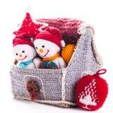 被编织的圣诞节 库存图片