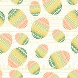被编织的复活节彩蛋背景 也corel凹道例证向量 免版税库存照片