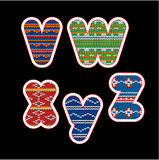 装饰被编织的字母表的摘要- VWXYZ 免版税库存图片