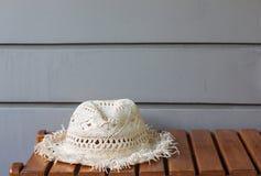 被编织的帽子 库存照片