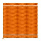 被编织的无缝的橙色背景 向量 库存图片