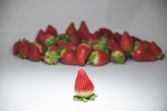 被编组的有机草莓 免版税库存图片