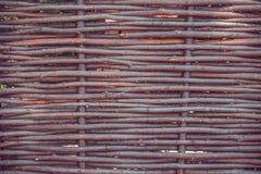 被编织的杨柳篱芭 土气样式 库存照片