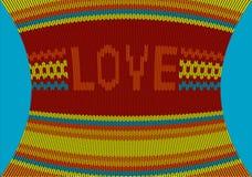 被编织的毛线衣样式-传染媒介 免版税库存照片