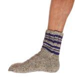 被编织的温暖的袜子 免版税库存图片