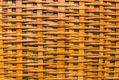 被编织的竹工艺篮子样式背景 库存照片
