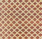 被编织的竹模式 库存照片