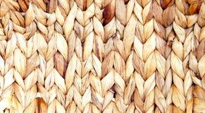 被编织的篮子纹理 图库摄影