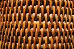 被编织的纹理木头 库存图片