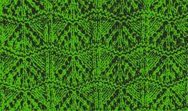 被编织的羊毛纹理样式绿色传染媒介 免版税库存照片