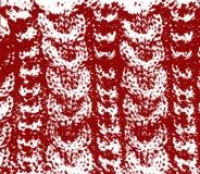 被编织的羊毛纹理红色传染媒介 免版税库存图片