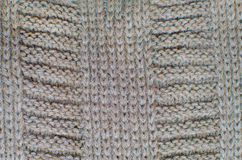 被编织的羊毛背景,棕色纹理 免版税库存照片