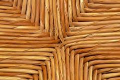 被编织的自然柳条背景细节 库存照片