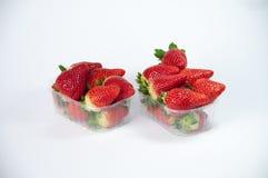 被编组的草莓 免版税图库摄影