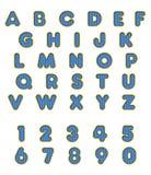 被编织的蓝色字体 库存例证
