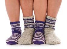 被编织的袜子 免版税库存照片