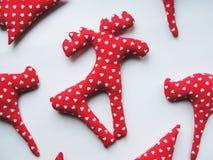 被缝合的圣诞节驯鹿 免版税图库摄影