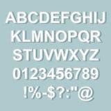 被缝的文本样式字母表汇集集合 免版税库存照片
