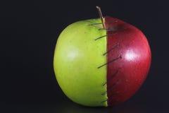 被缝的Apple 库存图片