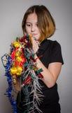被缠结的圣诞节装饰品 免版税图库摄影