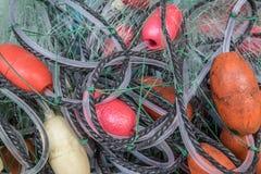 被缠结的捕鱼网 图库摄影