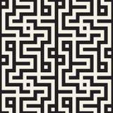 被缠结的迷宫排行当代图表 抽象几何背景设计 模式无缝的向量 皇族释放例证