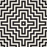 被缠结的迷宫排行当代图表 抽象几何背景设计 模式无缝的向量 向量例证