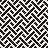 被缠结的迷宫排行当代图表 黑色模式无缝的向量白色 皇族释放例证