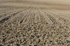 被耕的土壤 库存照片