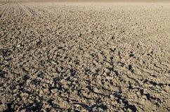 被耕的土壤 免版税库存照片